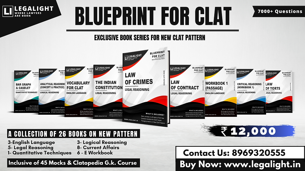 CLAT Book Series, Blueprint for CLAT by Legalight