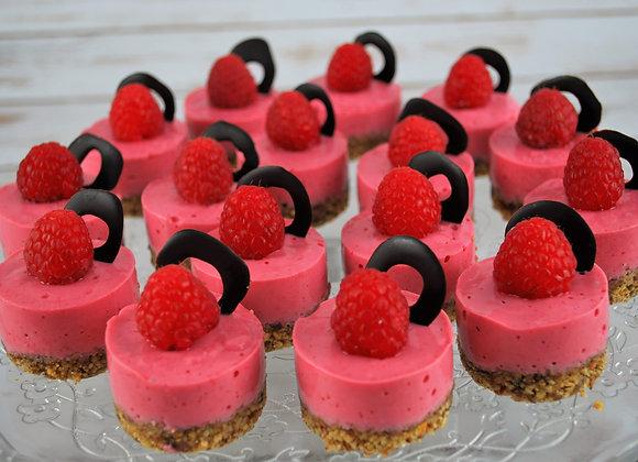 Raspberry Mousse Bites