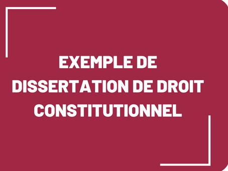 Exemple de dissertation de droit constitutionnel : la séparation des pouvoirs aux USA