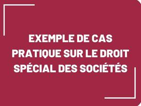 [Cas pratique] Exemple en droit spécial des sociétés