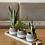 Thumbnail: בטון דמוי קש בשילוב לבן, עם צמח לבחירה