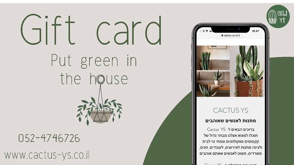 Gift card - כרטיס מתנה