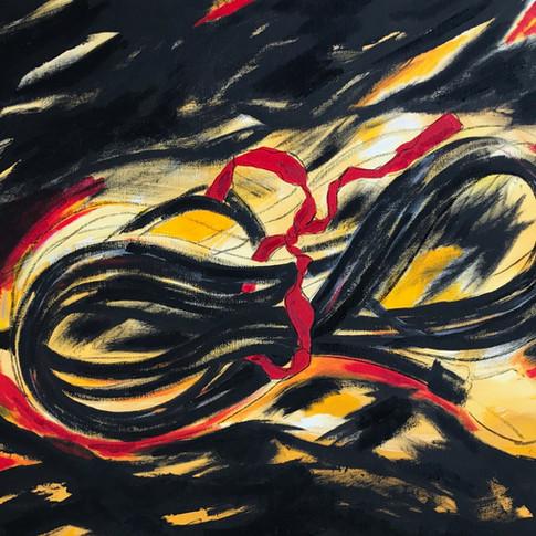 Innocence #4, Oil & Acrylic on Canvas, 24 x 36