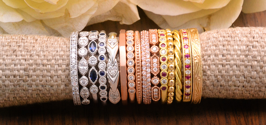Stackable Diamond & Gemstone rings