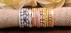 Stackable Diamond & Gemstone rings