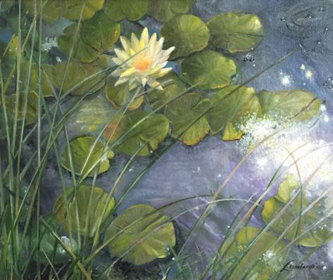 Sunny Reflection, Oil on Canvas, 15 x 20