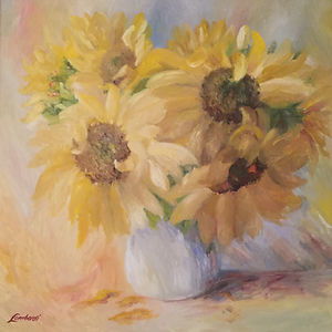 sunflowers _ summer bloom _  fine art pr