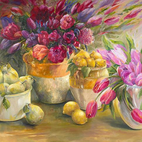Garden Fresh, Oil on Canvas, 30 x 40