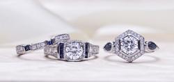 Diamond and Gemstone Engagement Rings
