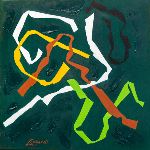 Twist #6, Oil on Canvas, 20 x 20