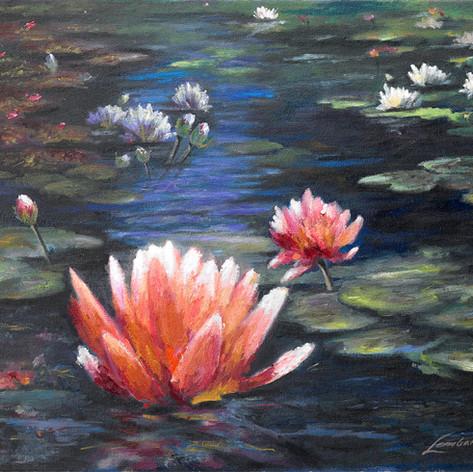 Peaceful Pond, Oil on Canvas, 14 x 18