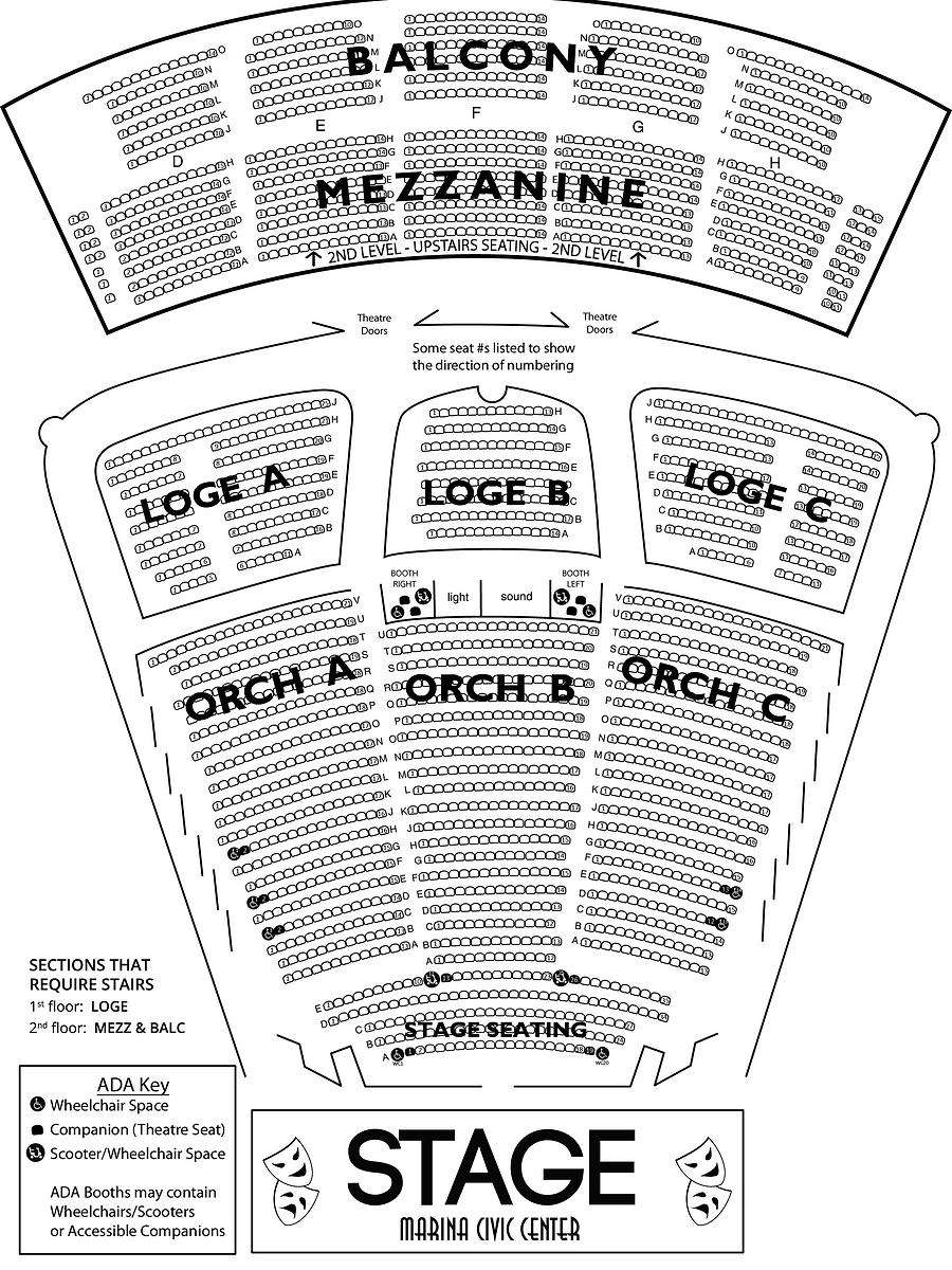 Theatre seating marina civic center panama city fl