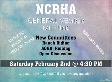 Member Meeting before NCRHA Awards Banquet