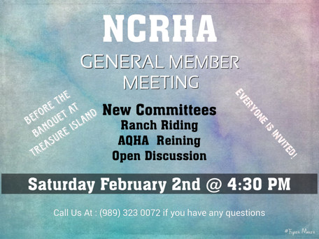 Member Meeting before NCRHA Awards Banquet