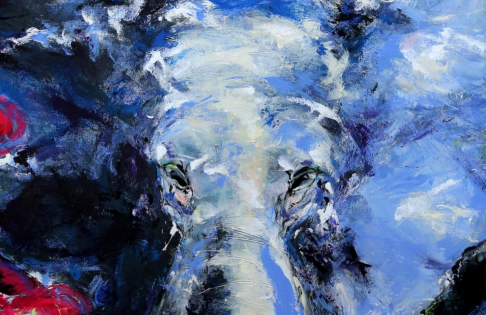 """Blue Elephant"" (sold)"