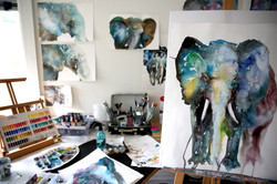 Working. Ulrike Nordquist