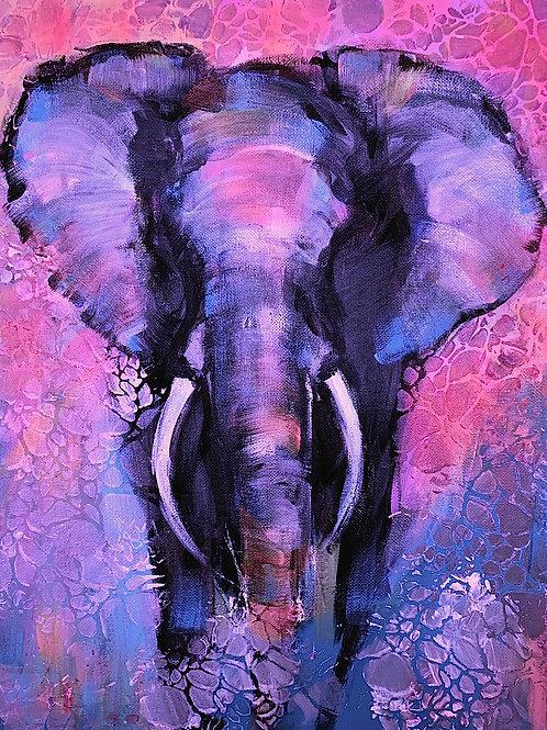 """Violet"", popart-elephant"