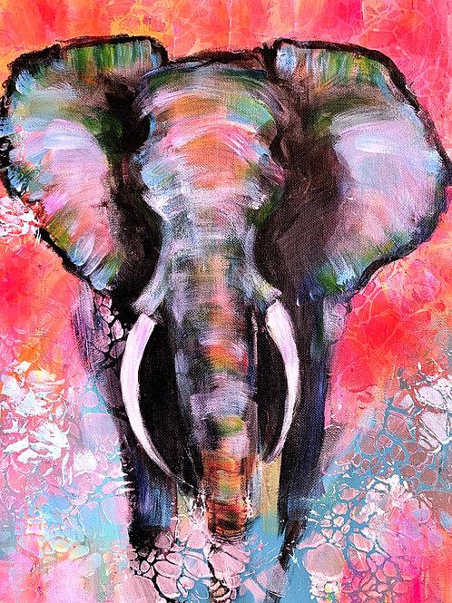 """Paradise"", popart-elephant"