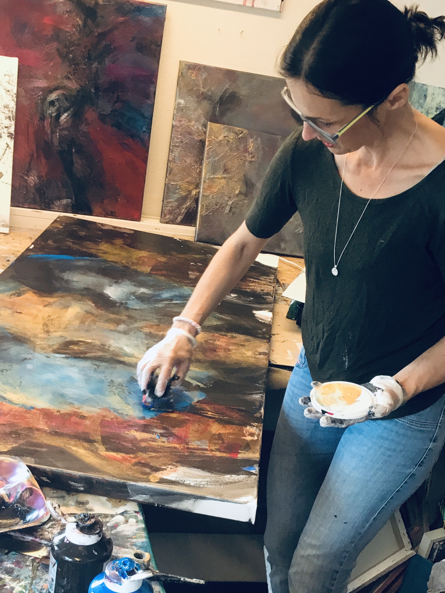 Working in my Studio 2019