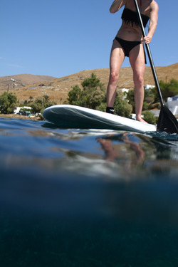 paddle boarding in Cyclades