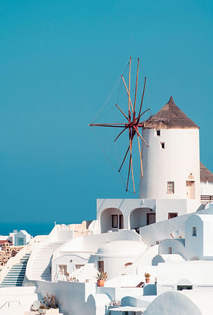 White-washed Windmill in Cyclades