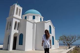 admiring greek churches