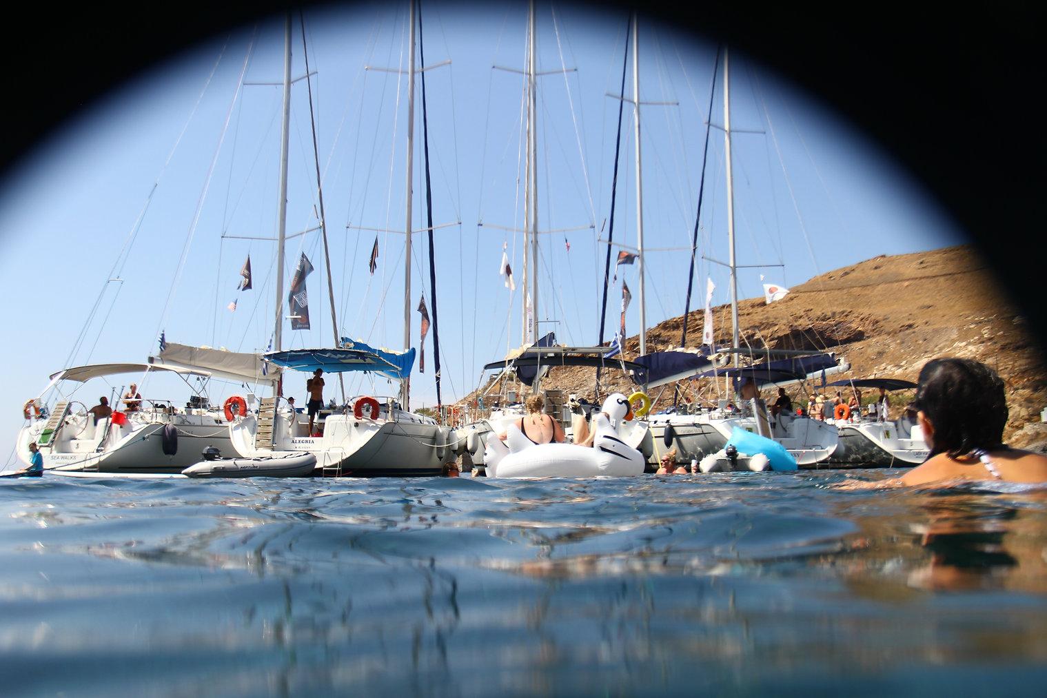 Water Playground. Greek Cyclades