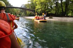 Rafting fast-flawing rivers