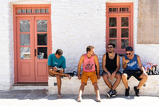 hanging out with friends - greek cyclades