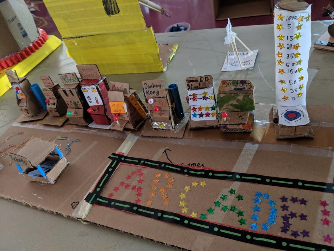 Cooperative mini arcade.
