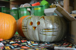 We can carve the pumpkins.