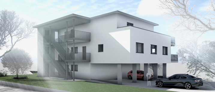 Bauteam11| MFH Deitingen | Nord-Ostfassade