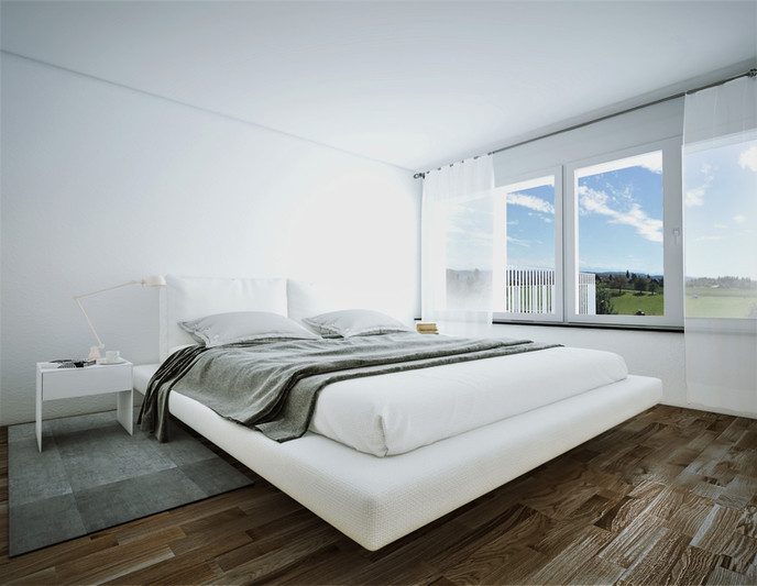 Bauteam11| MFH Oberdorf | Schlafzimmer