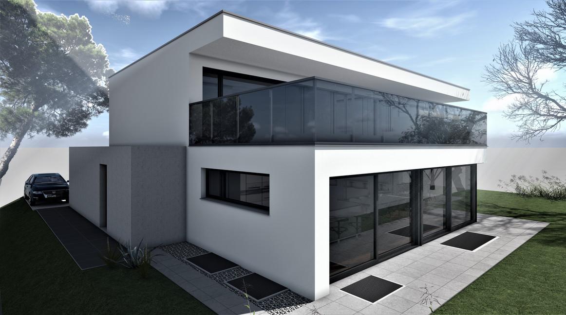 Bauteam11| EFH Bellach Hübeli 2 | Nord-Westfassade