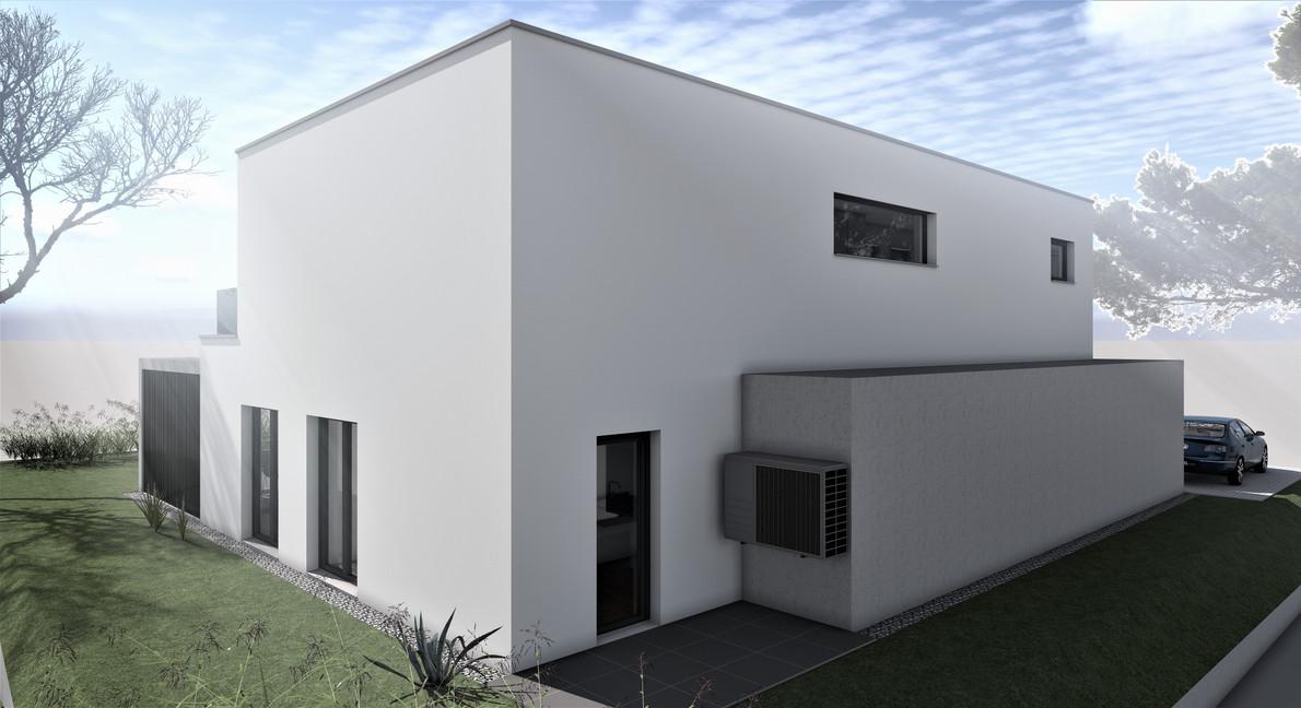 Bauteam11| EFH Bellach Hübeli 1 | Nord-Ostfassade