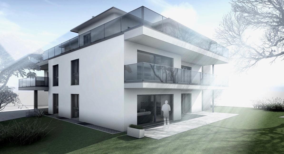 Bauteam11| MFH Deitingen | Süd-Westfassade