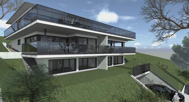Bauteam11| MFH Oberdorf | Süd-Westfassade