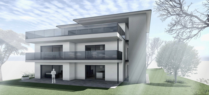 Bauteam11| MFH Deitingen | Süd-Ostfassade