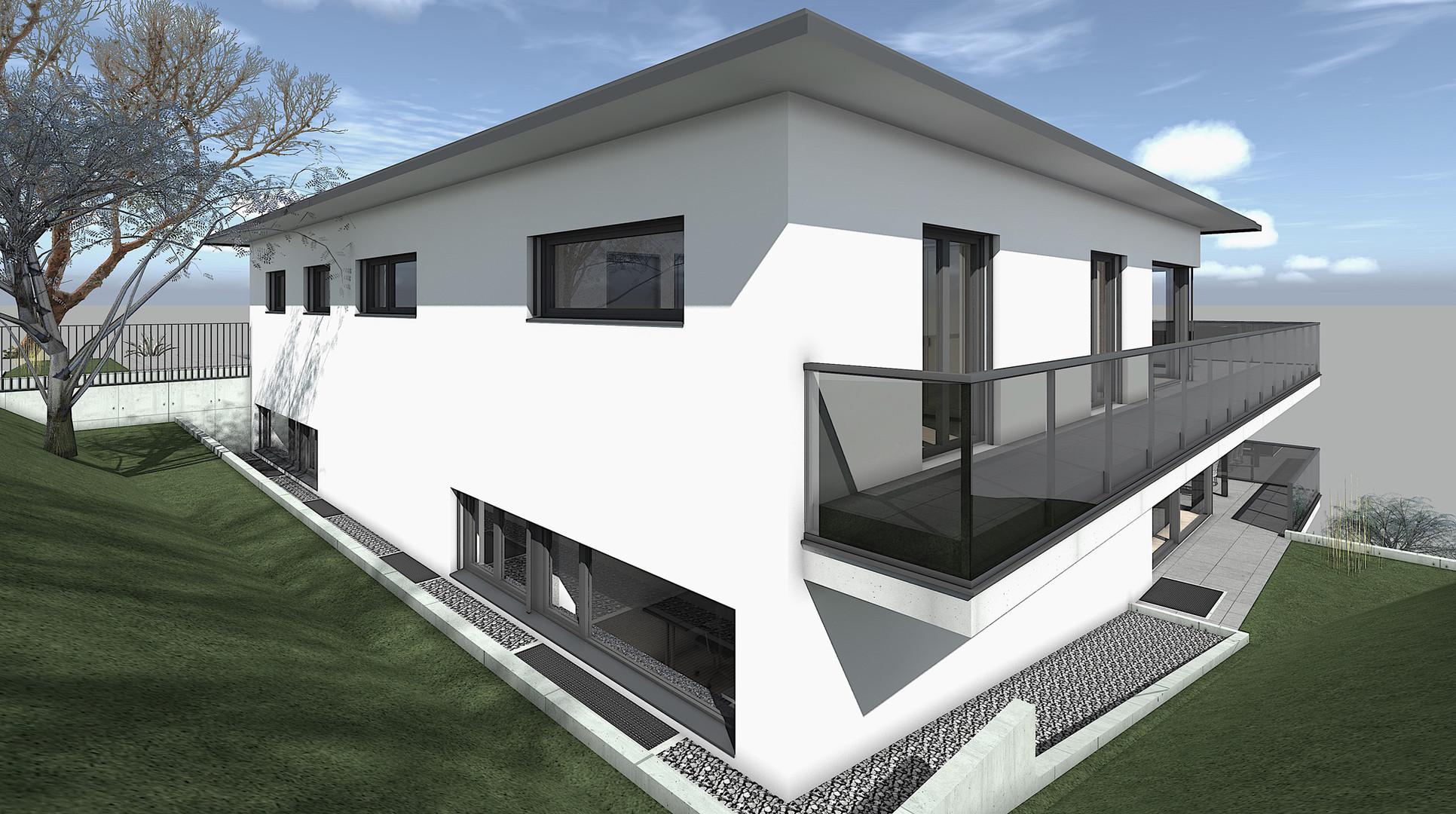 Bauteam11| MFH Oberdorf | Nord-Westfassade