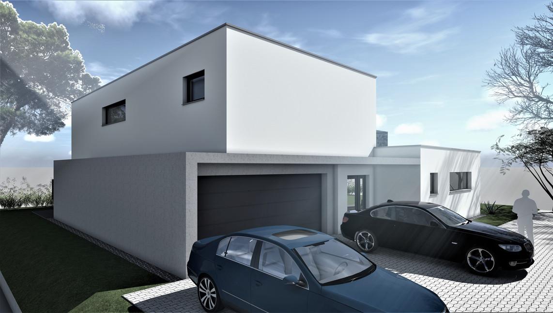 Bauteam11| EFH Bellach Hübeli 1 | Nord-Westfassade