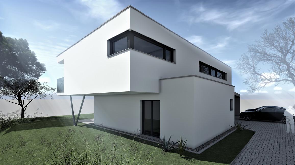 Bauteam11| EFH Bellach Hübeli 2 | Süd-Ostfassade