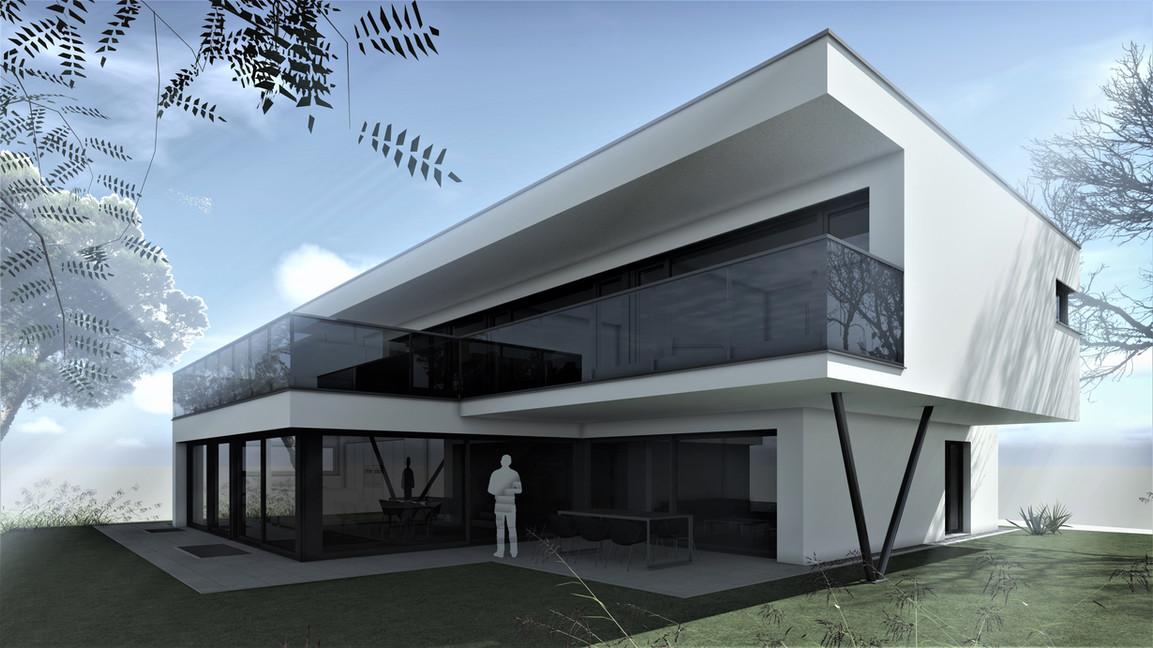 Bauteam11| EFH Bellach Hübeli 2 | Süd-Westfassade