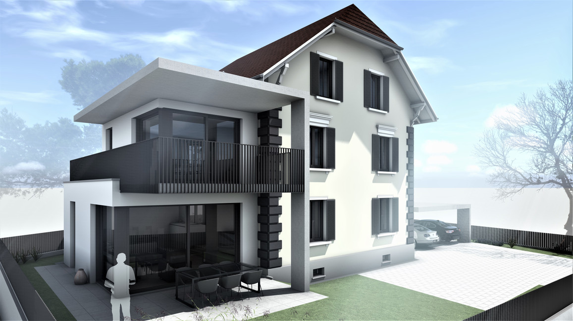 Bauteam11| MFH Solothurn | Nord-Westfassade