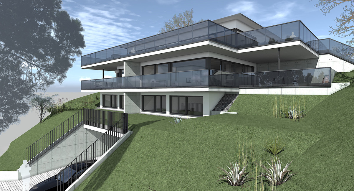 Bauteam11| MFH Oberdorf | Süd-Ostfassade
