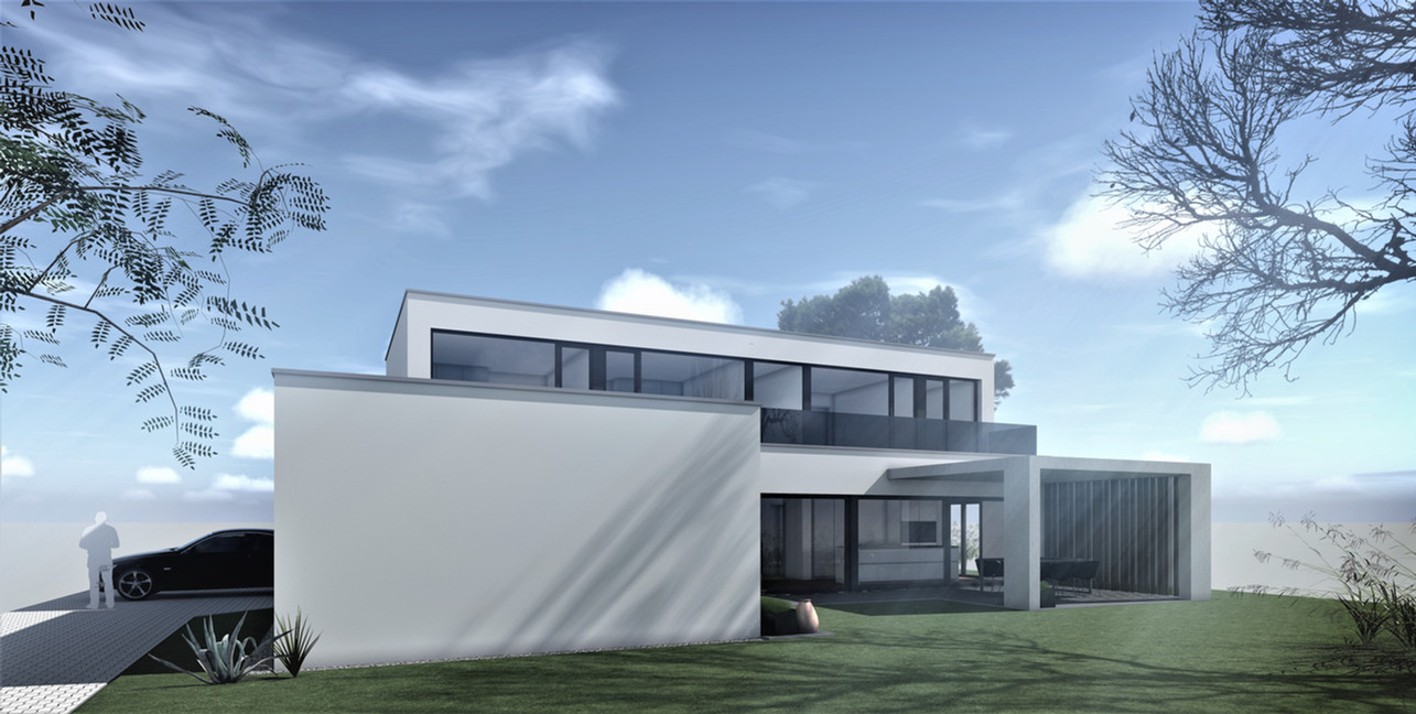 Bauteam11| EFH Bellach Hübeli 1 | Südfassade