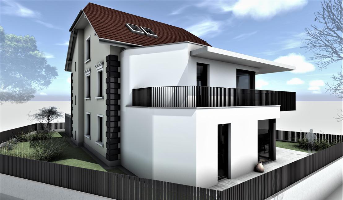 Bauteam11| MFH Solothurn | Nord-Ostfassade