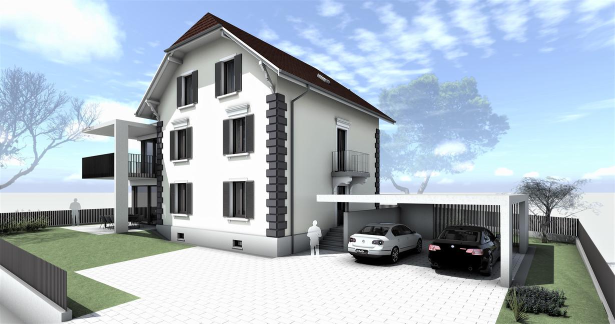 Bauteam11| MFH Solothurn | Süd-Westfassade