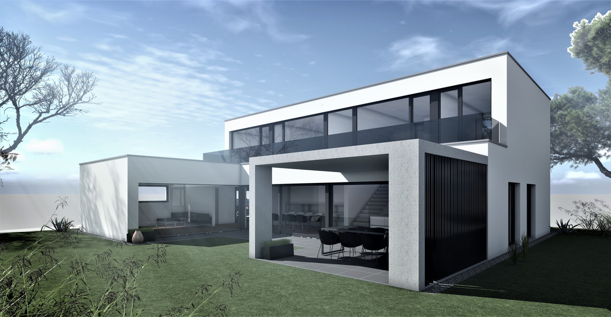 Bauteam11| EFH Bellach Hübeli 1 | Süd-Ostfassade