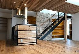 スチール階段,アイアン階段,鉄骨階段,ささら階段,アイアン什器,スチール家具,インダストリアル階段,工業系