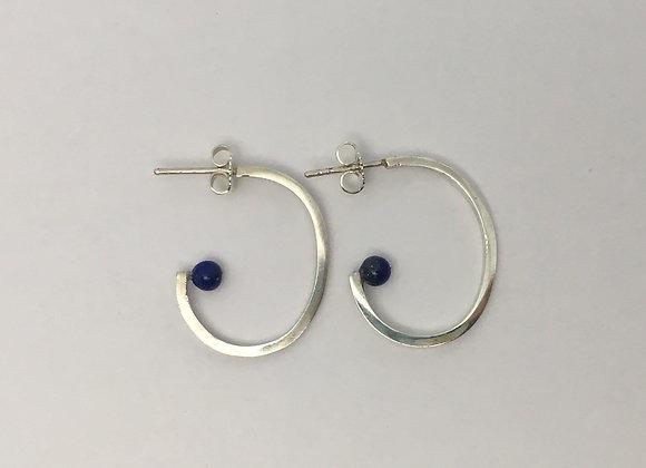 Demi Créoles Lapis Lazuli